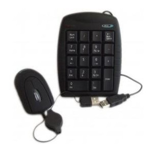 BCL USB Numpad and Retractable Mouse