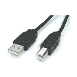 A to B cable connects a computer to a peripheral